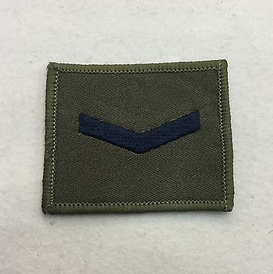 Lance Corporal Rank Badge, Olive Green & Black, LCpl Combat Patch, Hook & Loop