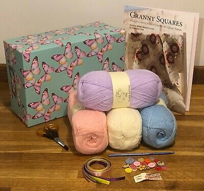 Learn To Crochet Granny Squares Complete Kit With Book Mothers Day Easter Gift