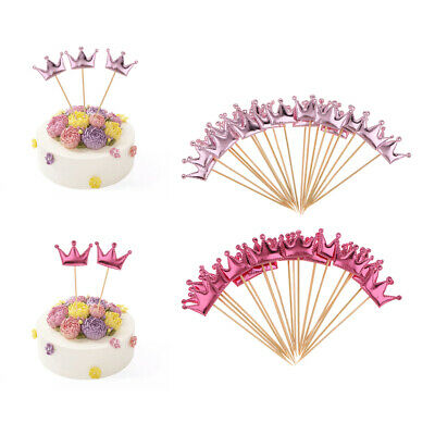 20pcs Lovely PU Leather Crown Cake Topper Wedding Birthday Party Supplier