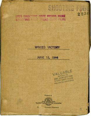 George Cukor WINGED VICTORY Original screenplay for the 1944 film #128781