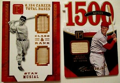 '16 Pantheon LOT 2 STAN MUSIAL 3 GAME USED BATS SSP's 2/5 & 5/25 ST LOUIS LEGEND