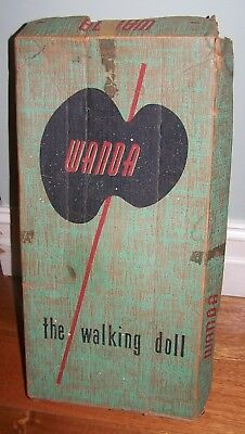WANDA THE WALKING DOLL WITH ORIGINAL BOX - CIRCA 1950's