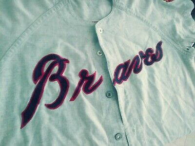 new product e1996 be2fa ATLANTA BRAVES VINTAGE Jersey Straight From The Locker Room