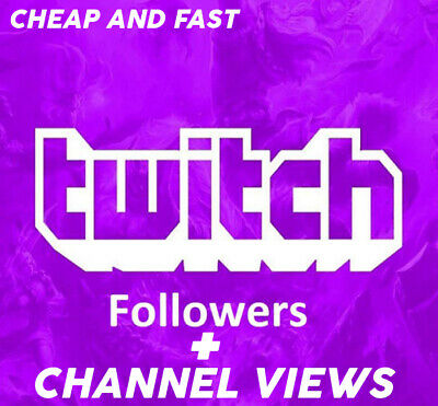 Twitch Followers And Views Cheap! Fast Delivery! 100% Safe!