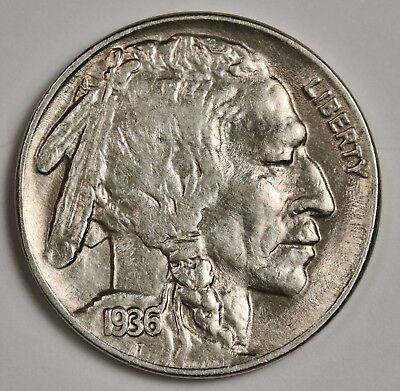 1936-p Buffalo Nickel.  B.U.  132185