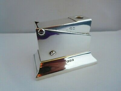 Good Quality Antique English Sterling Silver Table Cigar Cutter