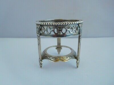 Superb Early 20Th Century Solid Silver Dutch Novelty Miniature Plant Stand