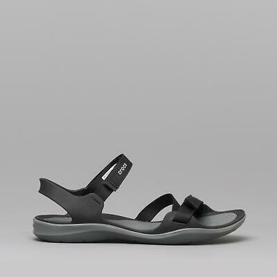 48ae70a90fc1 Crocs 204804 SWIFTWATER WEBBING SANDAL Ladies Ankle Strap Open Toe Sandals  Black