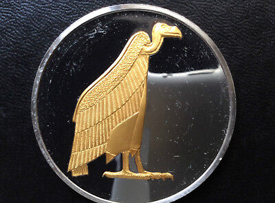 1979 Franklin Mint Amulet from Tuts Mummy 24kt GP on Silver Proof Medal A0970