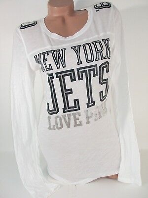 fd70ec59 Victorias Secret PINK T Shirt New York Jets Jersey Logo NY NFL Womens Large  Nwt