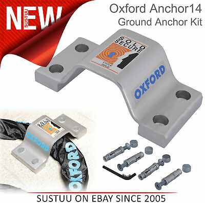 Oxford Anchor14 - Ground Anchor Kit for Cycle Bike│Fits All Chain