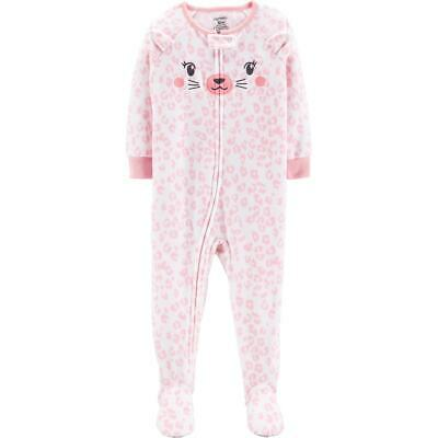 645c307e0 NWT ☀FOOTED FLEECE☀ CARTERS Girls HEARTS Pajamas New YOU PICK 4T ...