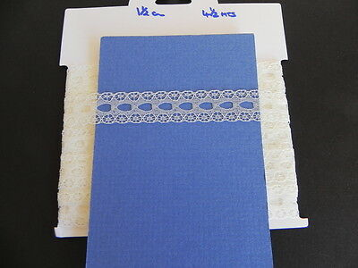 Card of New Eyelet Lace - Cream