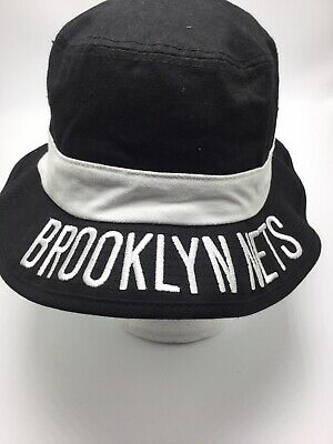 9d5c5d669edc7 BROOKLYN NETS - Mitchell   Ness White Cement Bucket Hat - Size Large ...