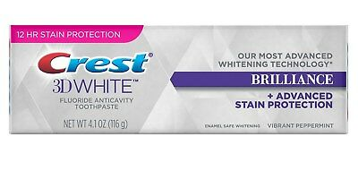 Crest 3D White Brilliance Whitening Toothpaste Vibrant Peppermint 4.1 Oz.