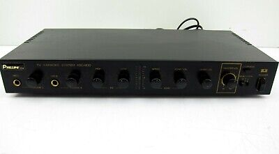 Phillips KEC-800 TV Karaoke System PA Amp Amplifier Mixer