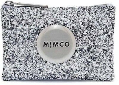 MIMCO Small Pouch Silver Sparks Fly Wallet Purse Clutch BNWT Authentic Wholesale