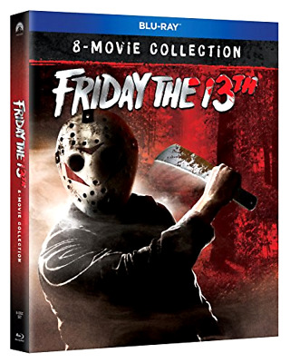 Friday the 13th: 8-Movie Collection (Blu-ray, 2018, 6-Disc set) w/slipcover