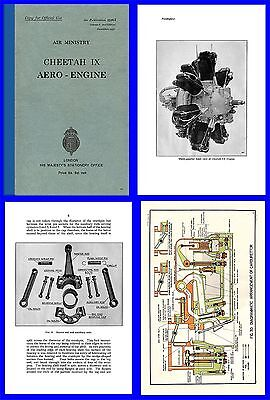 Cheetah IX Aero Engine Manual on CD AP1526A Anson Oxford Etc