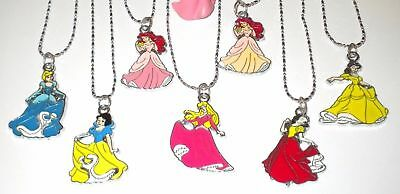 Girl's/young Ladies Disney Princess 925 Sterling Silver Enamel Pendant Necklace