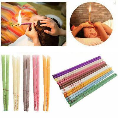 10/20Pc Earwax Hollow Candles Blend Cones Beeswax Ear Cleaning Thai Massage