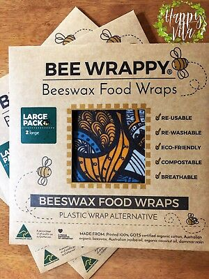 Bee Wrappy Australian Organic Beeswax Food Wraps (Various Packs Available)