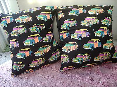 Morris Mini Coupe      One Pair Of Cushion 40  Cm / 16 Inches