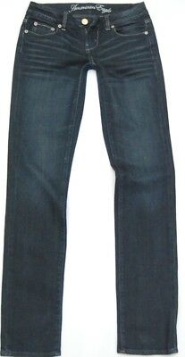 AMERICAN EAGLE STRETCH SKINNY JEANS - SIZE: 0 27x33 REGULAR - NICE! FREE SHIP!