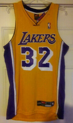 newest ecda1 e5594 NEW AUTHENTIC NIKE Magic Johnson Lakers Retro Jersey 40 M LeBron James  Worthy