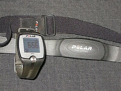 Polar Ft1 Watch And Belt T-31 Coded Heart Rate Monitor Size Medium Waterproof
