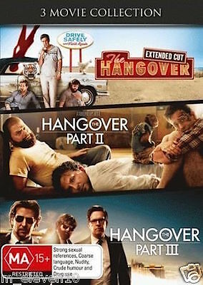 THE HANGOVER TRILOGY Part 1 II III : NEW 3-DVD