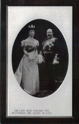 Vintage Royalty Postcard - King Edward VII and Alexandra, Rotary Opalette Series