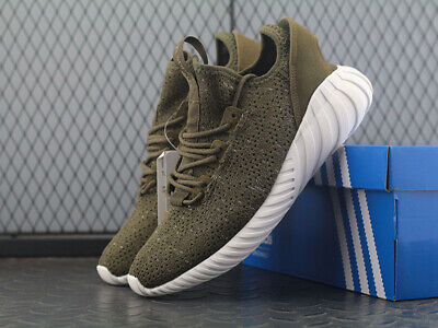 buy online 65894 cf24d ADIDAS ORIGINALS TUBULAR Doom Sock Primeknit CQ0683 Men Running Shoe  Trace/Olive