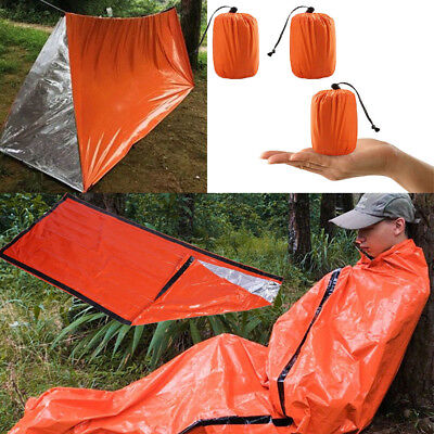 Emergency Sleeping Bag Thermal Waterproof For Outdoor Survival Camping Tent USA