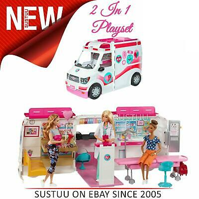 Barbie Large Medical Rescue Vehicle│Baby's Ambulance-Hospital playset│With Sound