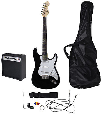 Johnny Brook Black Standard Guitar Kit with 15W Colour Combo Amplifier JB403