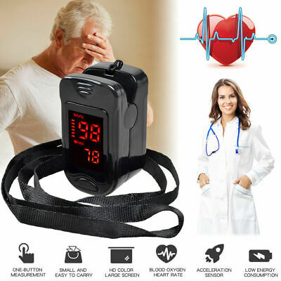 LED Finger Tip Pulse Oximeter SPO2 Oximetry Blood Oxygen Monitor PR Heart Rate
