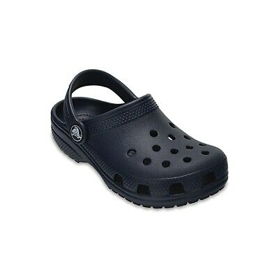 Crocs 204536 CLASSIC CLOG Kids Boys Girls Slip On Ankle Strap Casual Clogs Navy