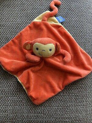 The Gro Company Mikey Monkey Orange Comforter Blanket Blankie Soother Hug Toy