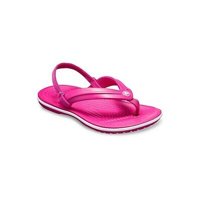 Crocs 205777 CROCBAND STRAP FLIP Girls Flip Flops Toe Post Sandals Candy Pink