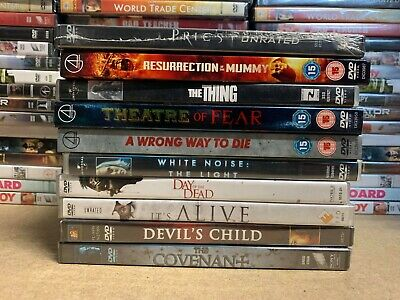 DB4 * NEW * 10 x DVD HORROR/THRILLER FILMS MOVIES BUNDLE