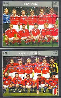 Russia Area 2000 Football - 14 Different Sheets - ** Mnh Vf