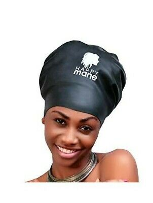 Bonnet natation Premium cheveux longs,dreadlocks, tissage, afro- XL, noir, mixte