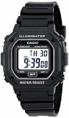 Casio F108WH-1A,  Chronograph Watch, Black Resin, Alarm, 7 Year Battery