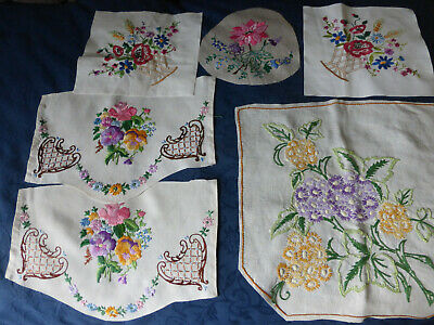 6 Hand Embroidered Pieces
