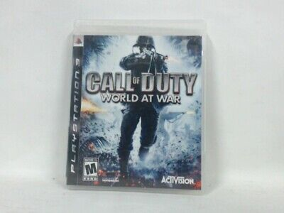 CALL OF DUTY WORLD AT WAR Playstation 3 PS3 Complete CIB Acceptable