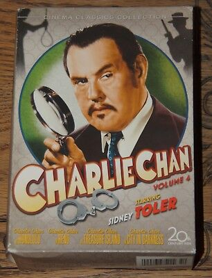 Charlie Chan Collection Volume 4 Sidney Toler Genuine Usa R1 Dvd Ships From Uk