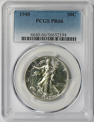 1940 Walking Liberty Half Dollar Silver 50C Proof PR 66 PCGS
