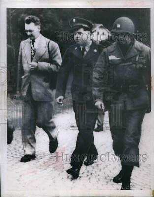 1954 Press Photo 1st Lt Richard Dries, Pfc George Pisk freed from Czech POW camp