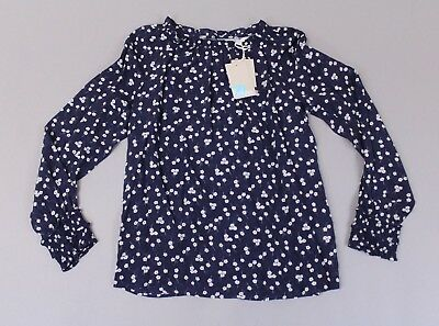 a6a1f84e5ee1ee Boden Women s L S Floral Detail Sadie Silk Top GG8 Navy Blossom Small NWT   170